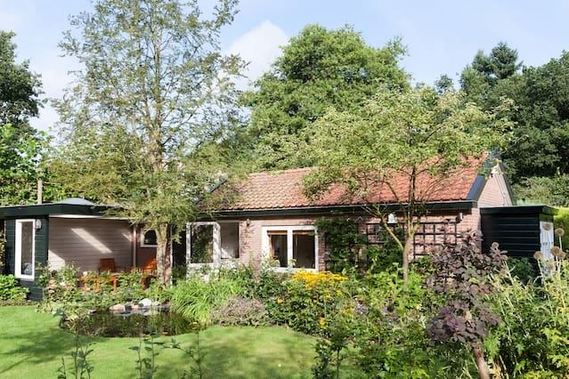 Fijn tuinhuis vlakbij Arnhem en Hoge Veluwe