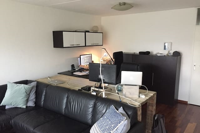 Appartement met prachtige werkplek + snel internet