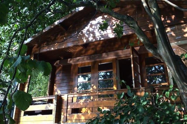 Leuke Rock 'n' Roll cabin met vuurplaats!