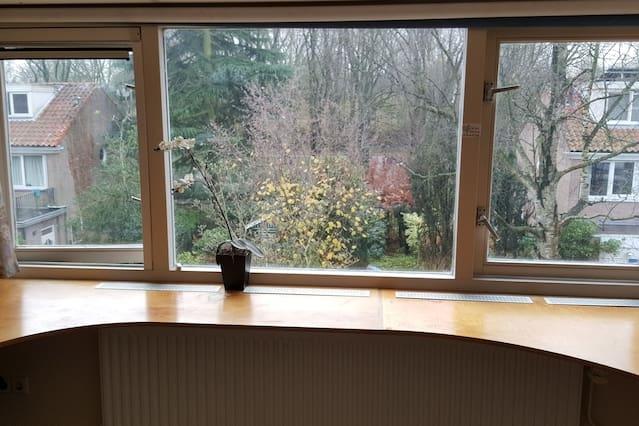 Nice quiet room with beautifull view on garden.