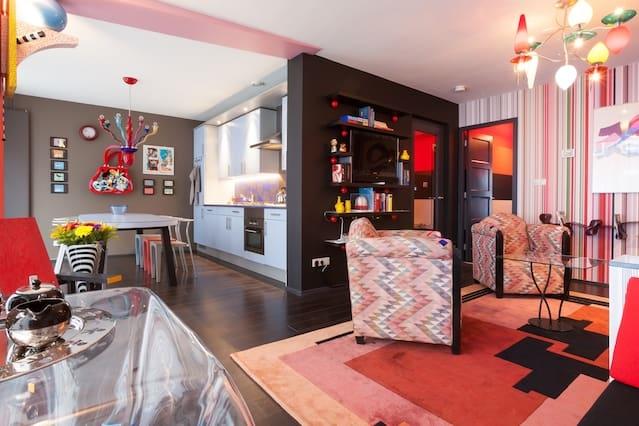 Ruim design appartement in het centrum van Arnhem