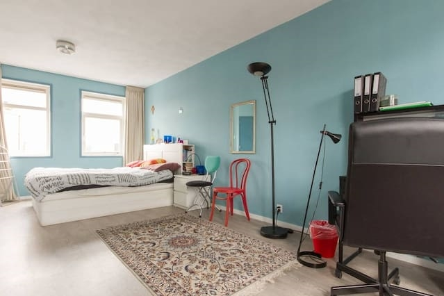 Large double bedroom with private bathroom.