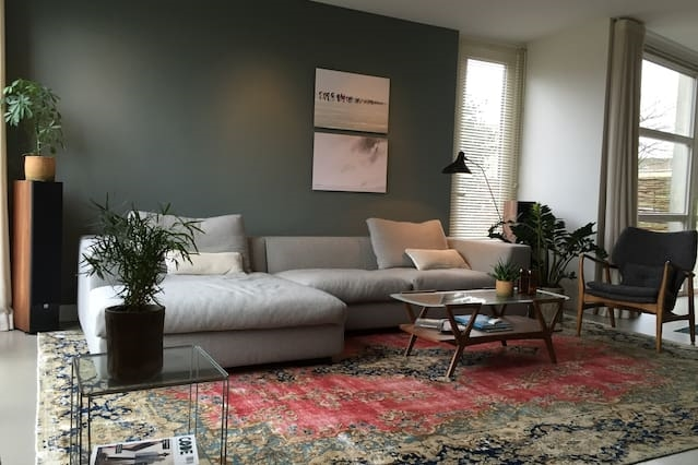 Light, comfortable, and spacious house.