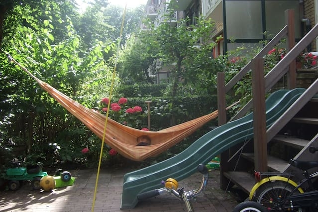 Appartment: big garden, close to beach&centre