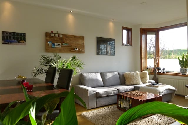 Cozy apartment with garden.