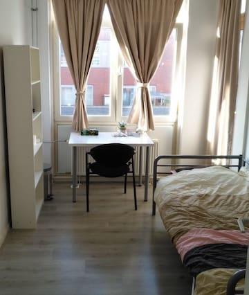 Bright single room in Amsterdam