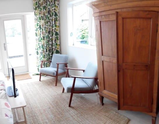 Studio aan zee met sauna en uitzicht
